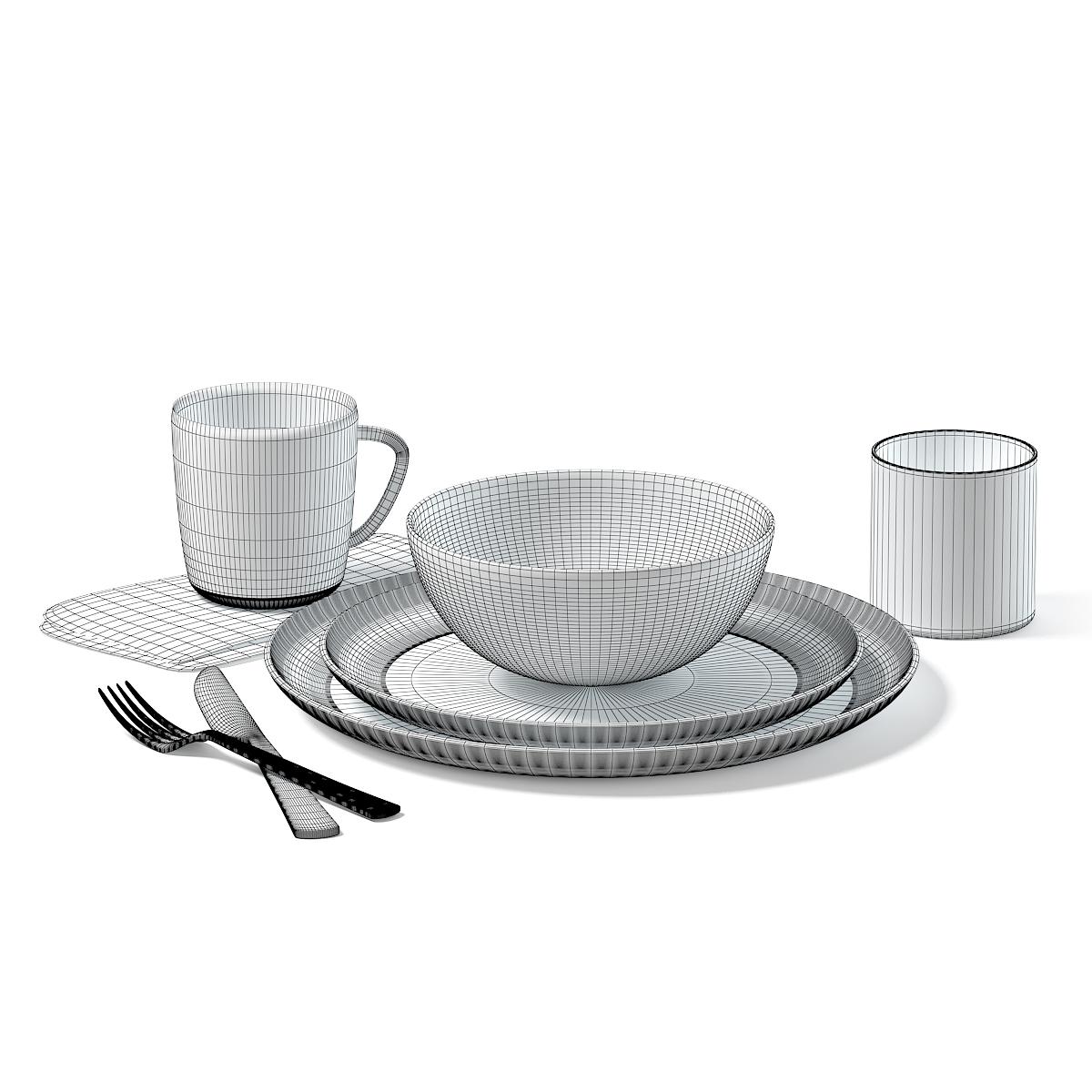 Dishes Set 3D Model