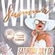 White Summer Flyer Template - GraphicRiver Item for Sale