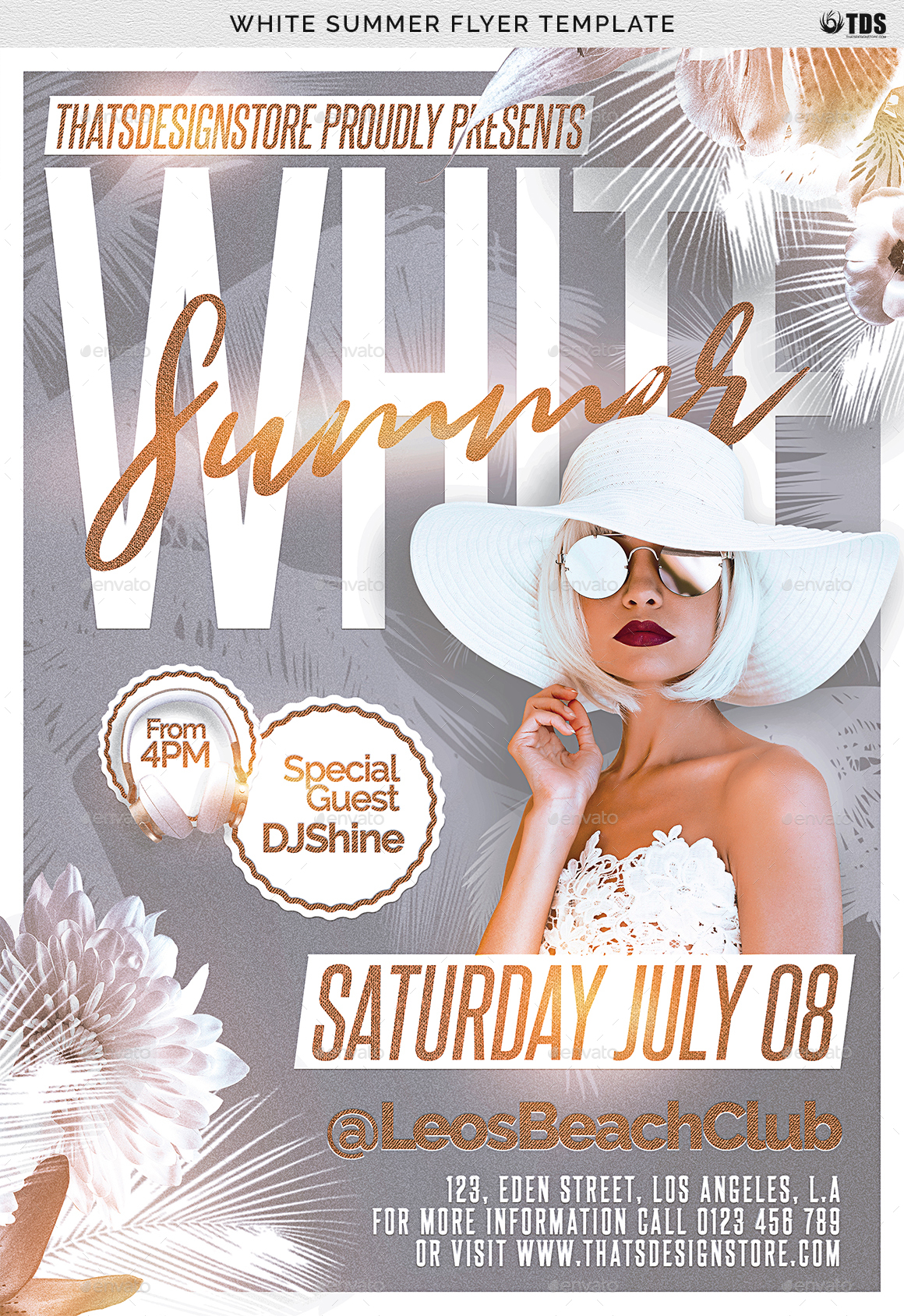 White summer flyer template by lou606 graphicriver summer flyer templateg saigontimesfo
