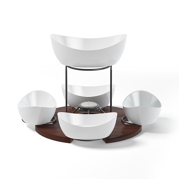 Fondue Set 3D Model - 3DOcean Item for Sale
