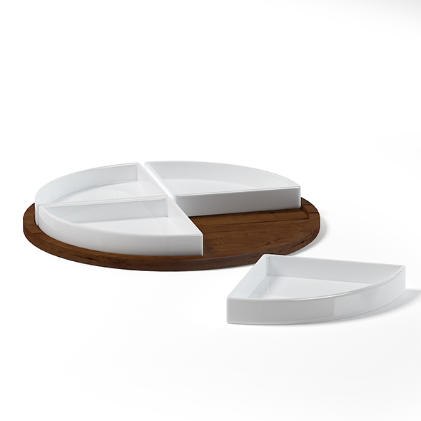 Dish Set 3D Model - 3DOcean Item for Sale