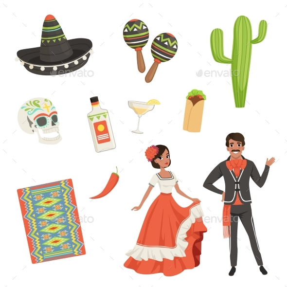 National Cultural Symbols of Mexico - People Characters
