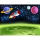 Outer Space Planet Cartoon Background - GraphicRiver Item for Sale