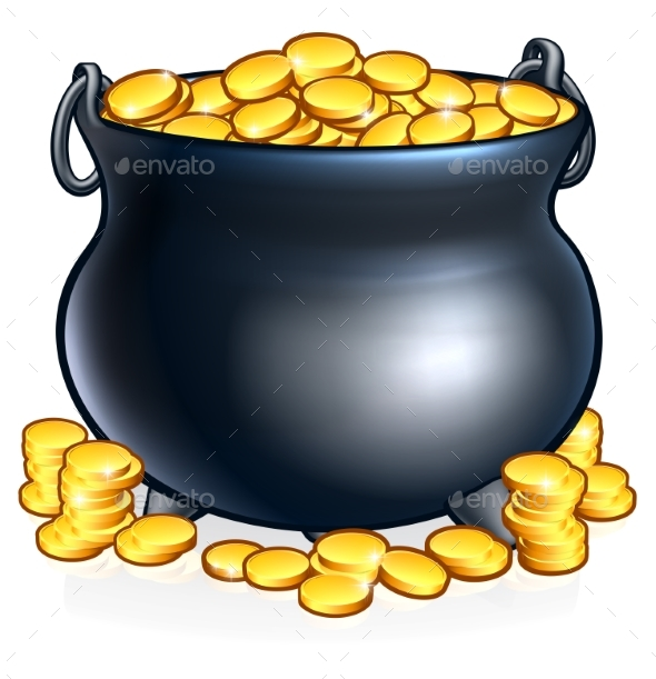 Pot of Gold Coins - Miscellaneous Vectors