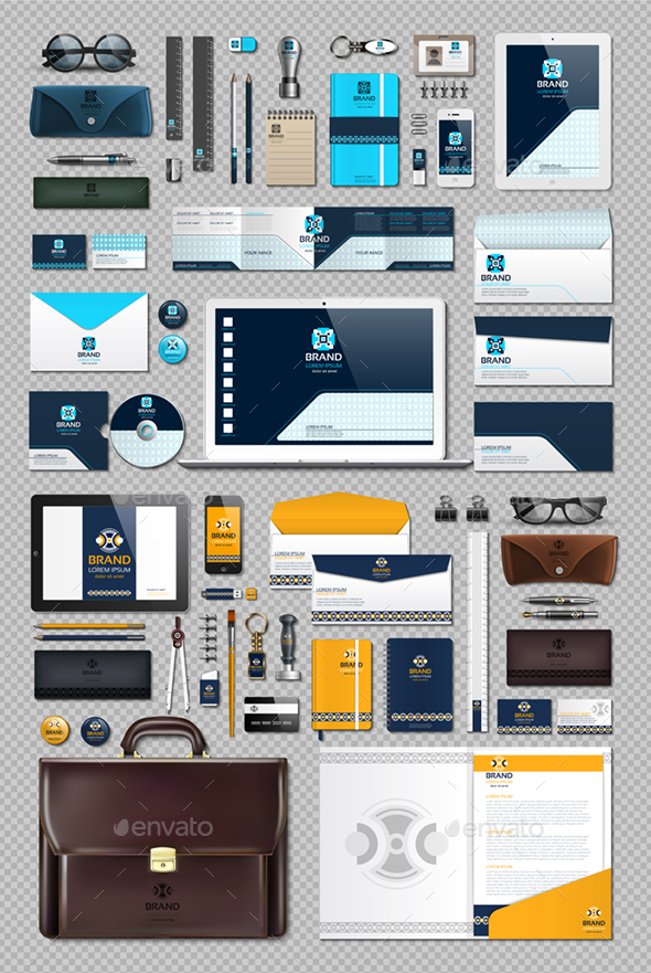Vector Realistic Business Corporate Stationery Set - Backgrounds Business