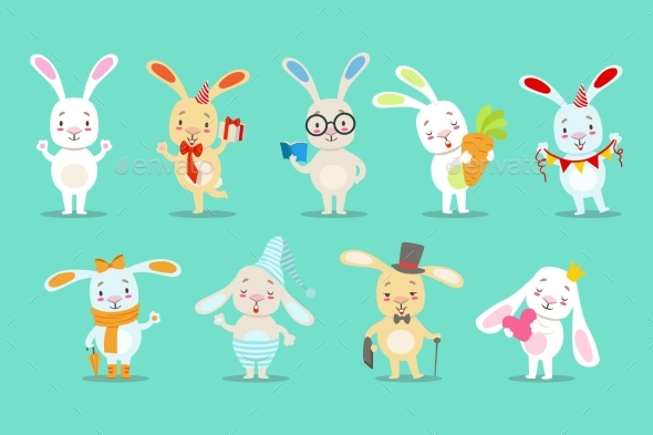 Bunny Cartoon Characters - Animals Characters