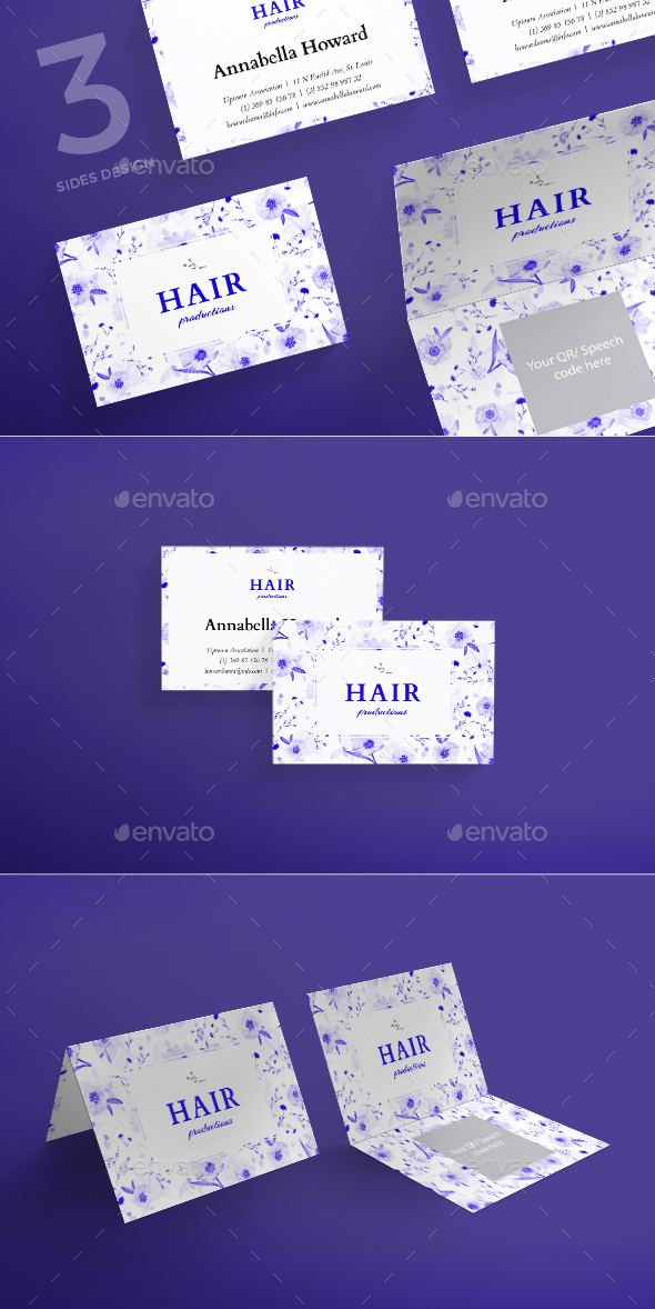 Hair Productions Business Card - Business Cards Print Templates
