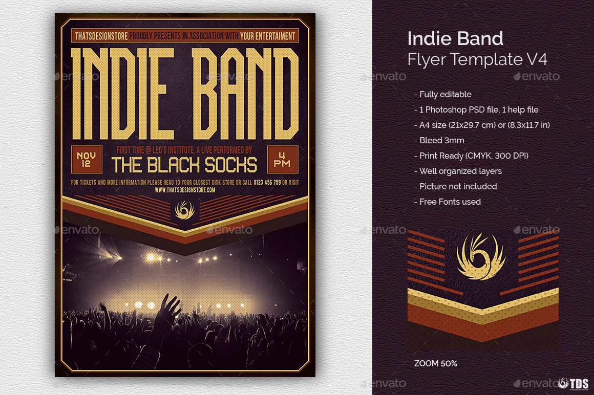 Indie Band Flyer Template V4 By Lou606 Graphicriver