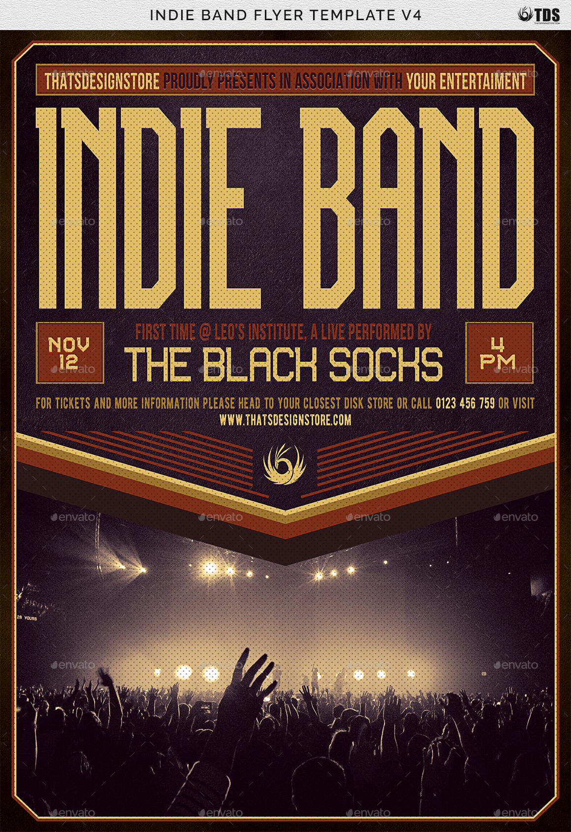 Delightful ... Band Flyer Template V4