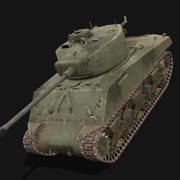 Sherman Tank - 3DOcean Item for Sale