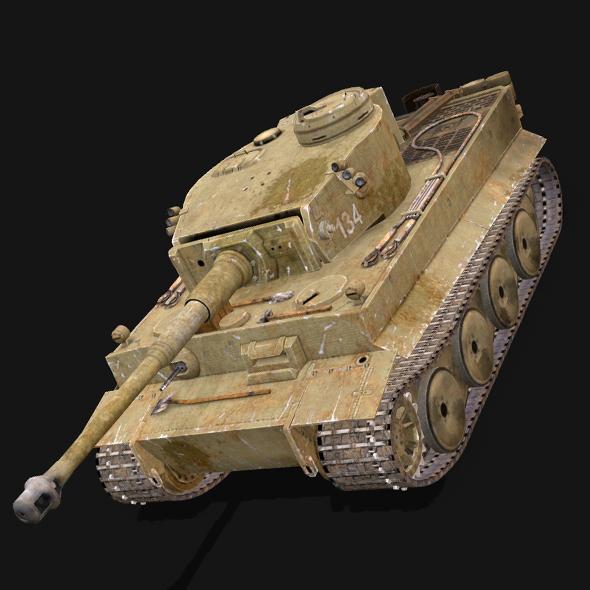 Tiger Tank - 3DOcean Item for Sale