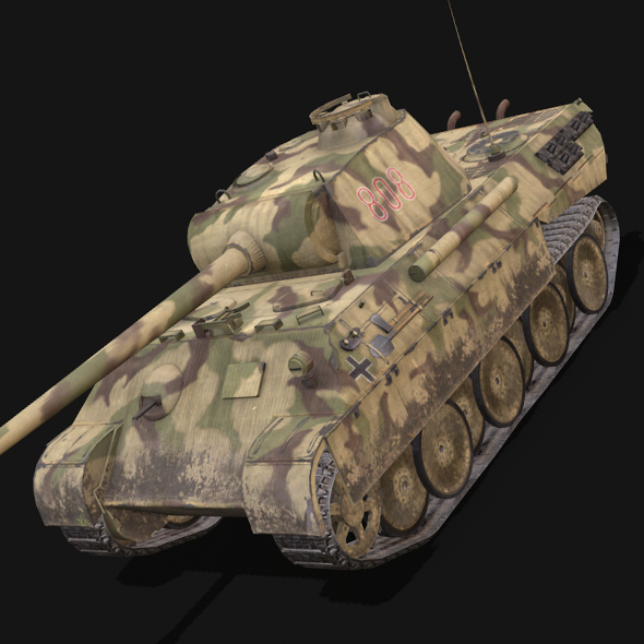 Panzer V Panther - 3DOcean Item for Sale