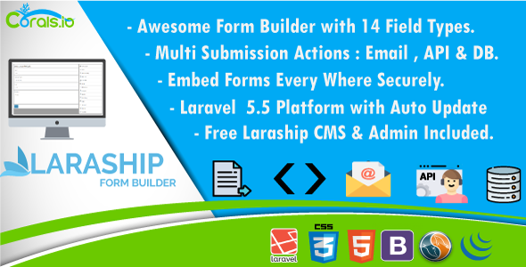 Laraship Form Builder: Create and Embed Your Forms Every Where with CMS And Admin - CodeCanyon Item for Sale