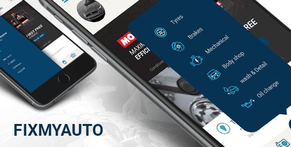 Automotive Service or Repair  Booking/ Management App Templates - FixMyAuto