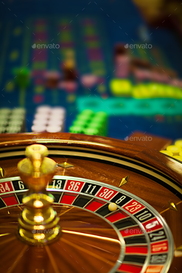wooden roulette wheel - Stock Photo - Images