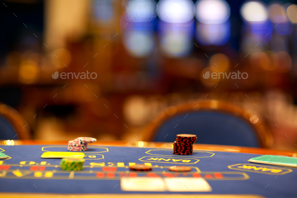alone blackjack table - Stock Photo - Images