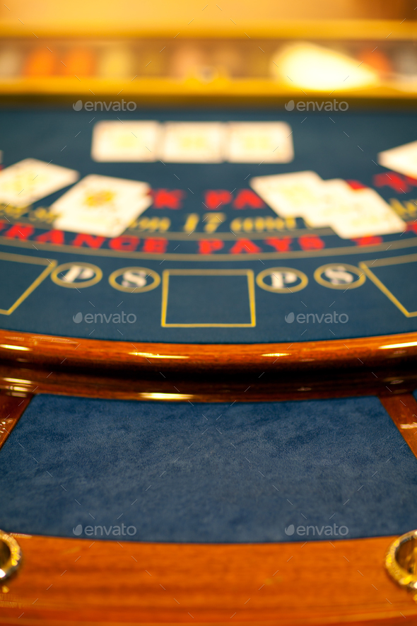 detail of a blacjack table - Stock Photo - Images