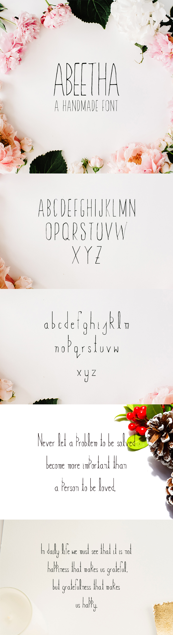 Abeetha Handmade Font - Sans-Serif Fonts