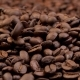 Roasted Coffee Beans Falling on Heap