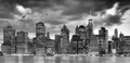 Black and white panoramic picture of the New York City. - PhotoDune Item for Sale