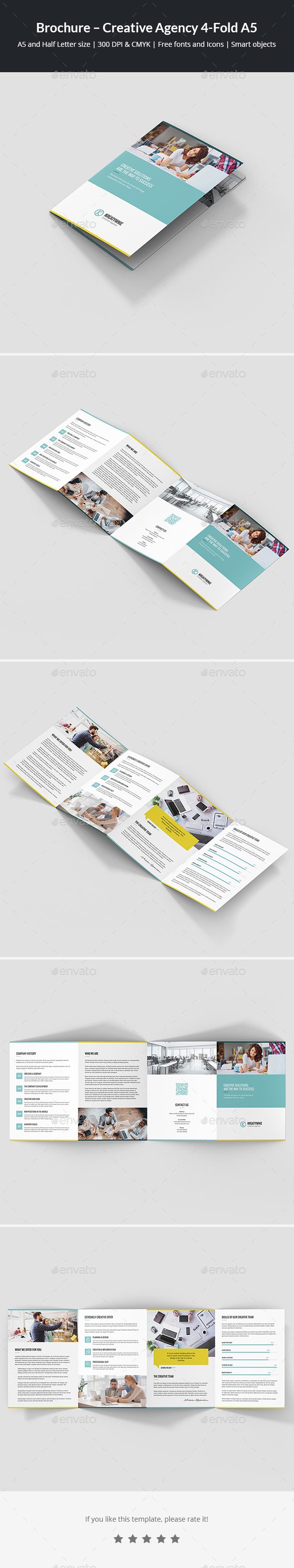 Brochure – Creative Agency 4-Fold A5 - Corporate Brochures