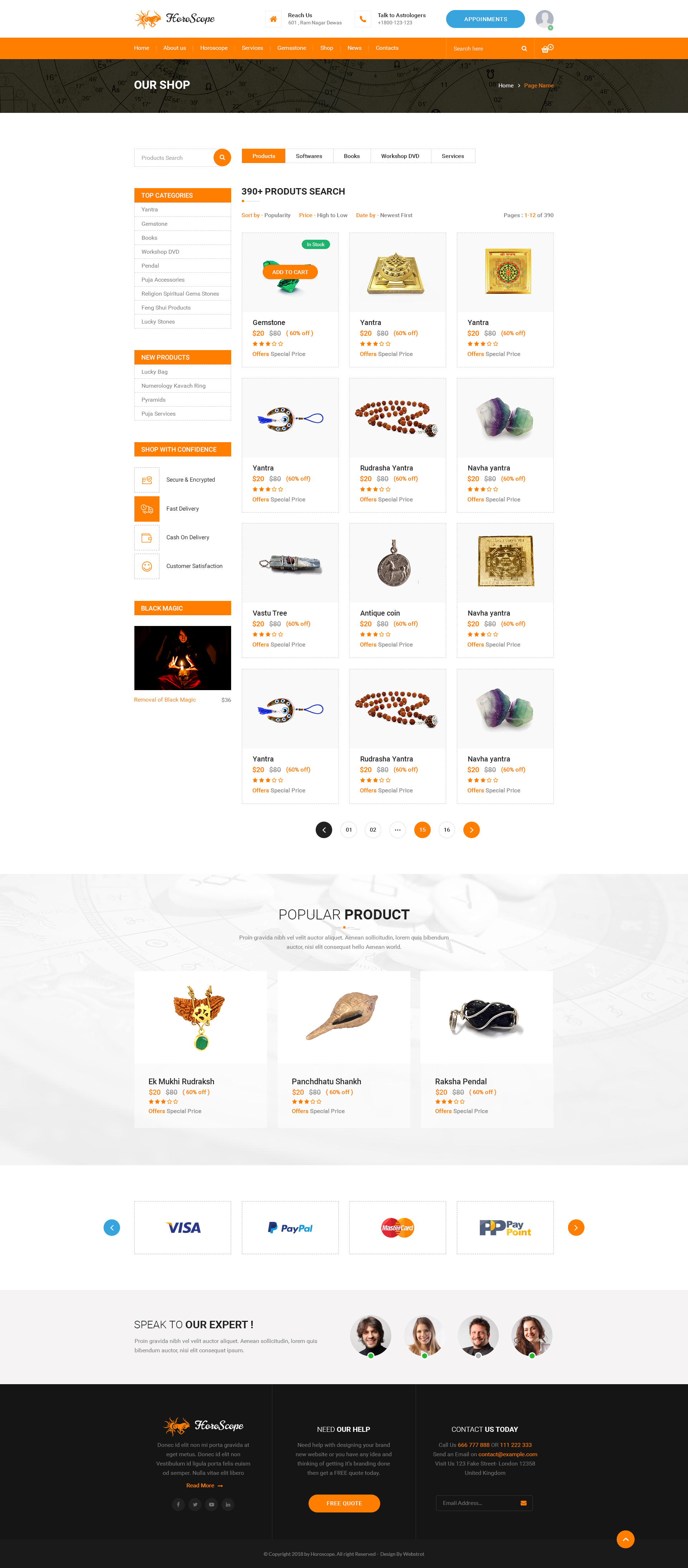 Horoscope - Astrology and Numerology Multipurpose PSD Template
