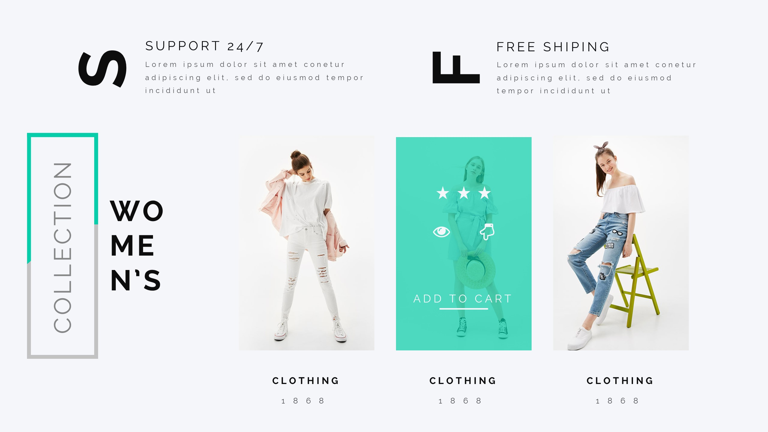 magen fashion clothing google slide template by bluestack