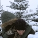 Young Couple in Love Fooling around among the Frozen Trees - VideoHive Item for Sale
