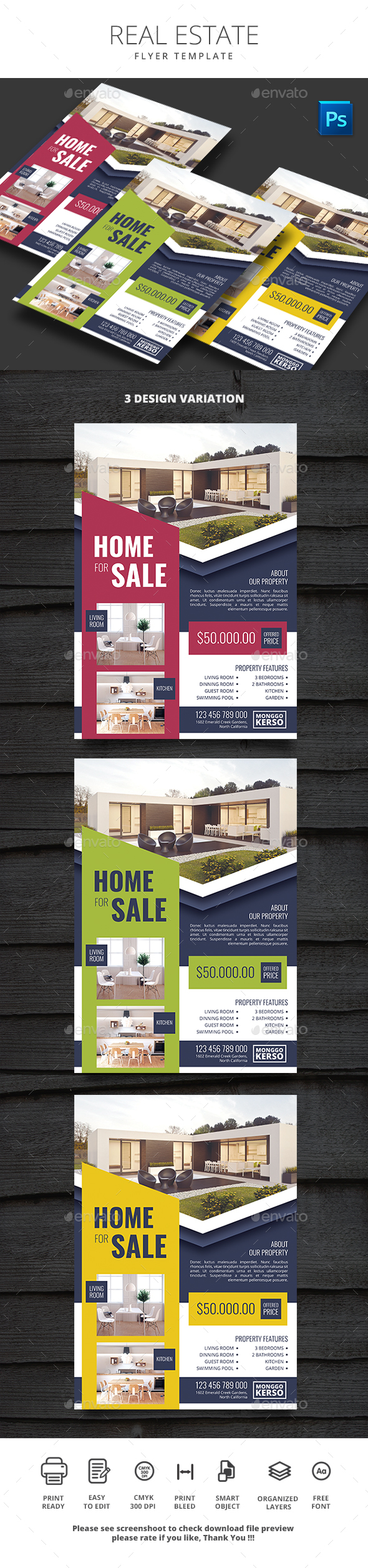 Real Estate - Flyers Print Templates