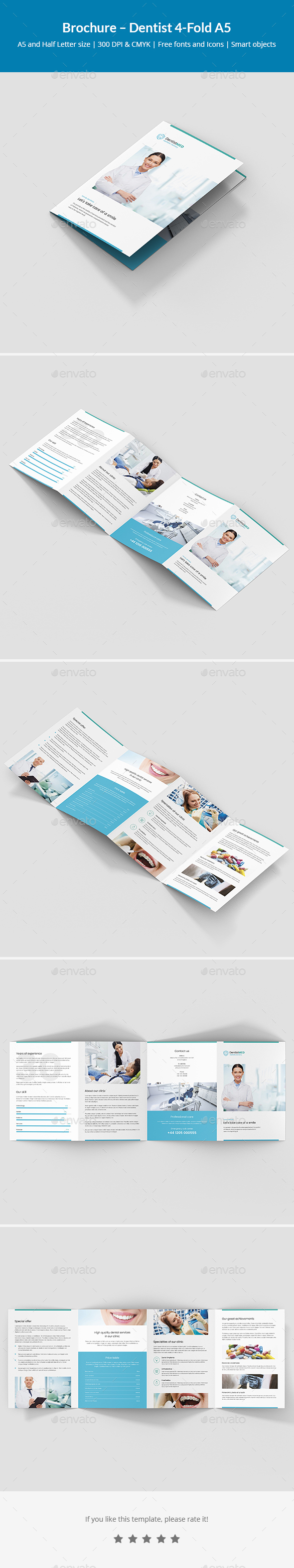 Brochure – Dentist 4-Fold A5 - Informational Brochures