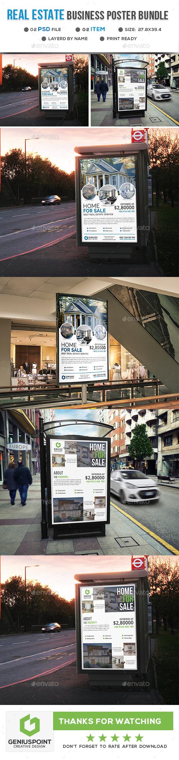 Real Estate Poster Bundle - Signage Print Templates