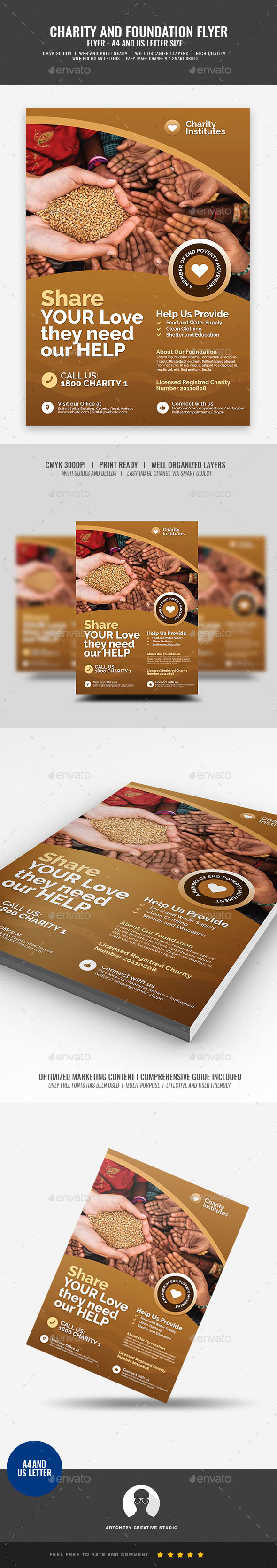 Charity and Foundation Flyer - Corporate Flyers