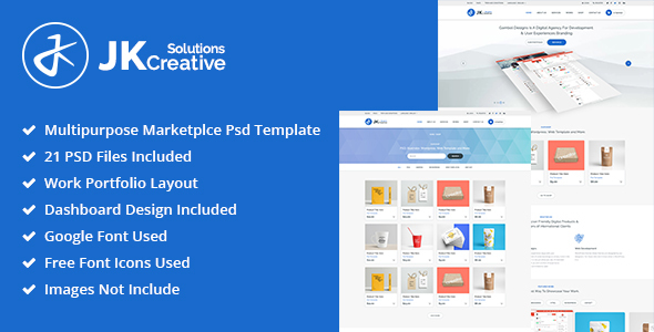 ThemeForest Portfolio JK Creative Solutions PSD Template 21184176