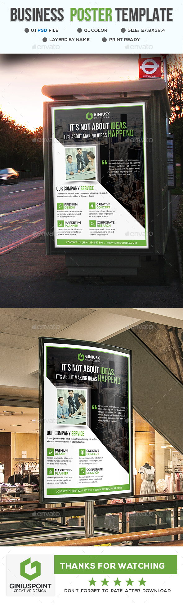 Business Poster Template - Signage Print Templates