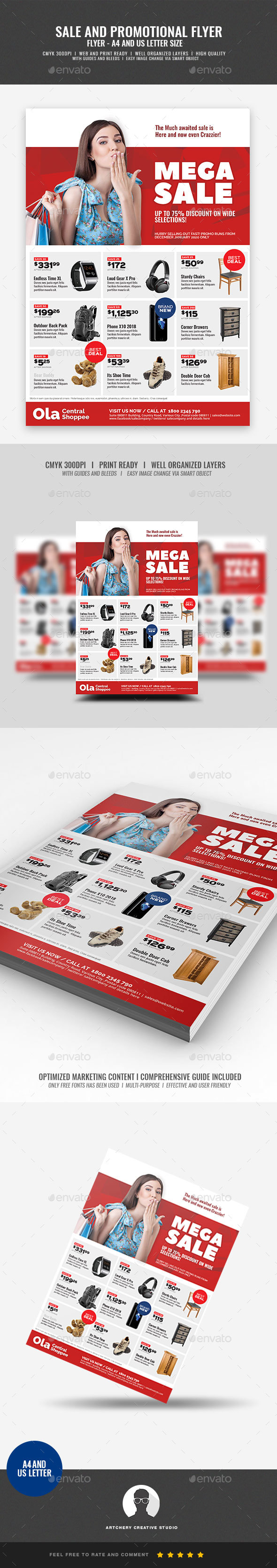 Product Sale and Promotional Flyer - Corporate Flyers