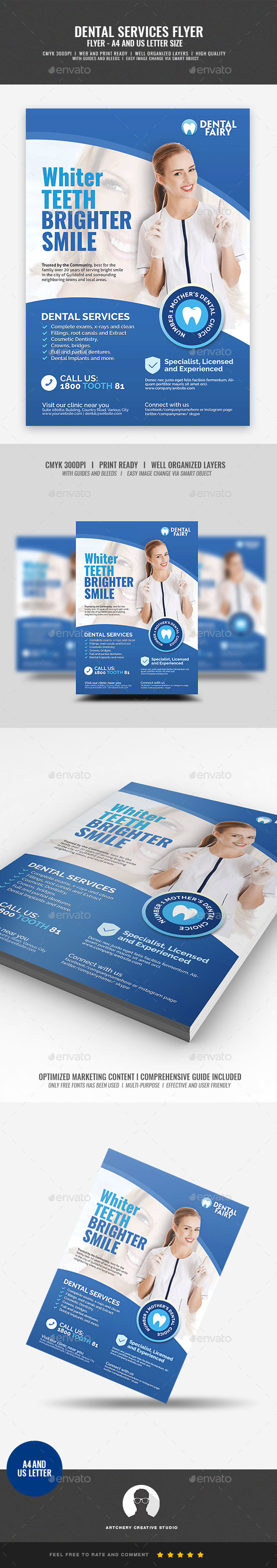 Dental Clinic Promotional Flyer - Corporate Flyers