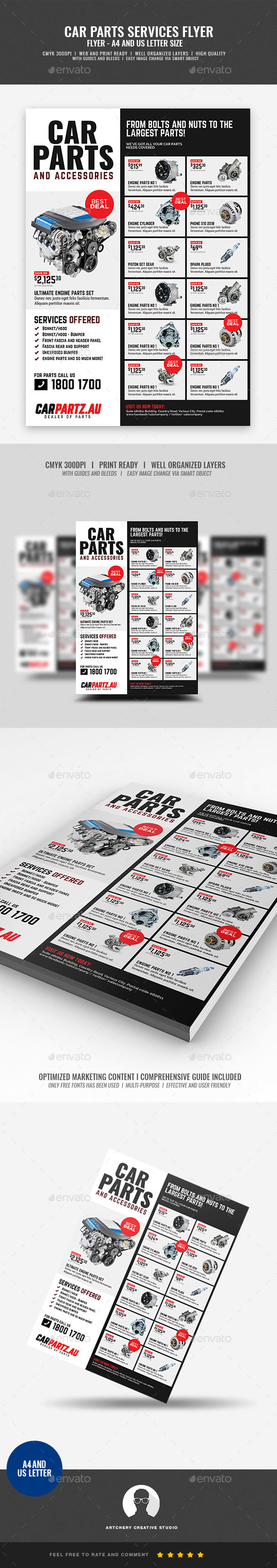 Car and Auto Supply Shop Flyer - Corporate Flyers