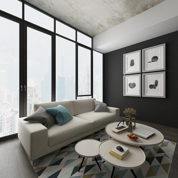 Living - 3DOcean Item for Sale