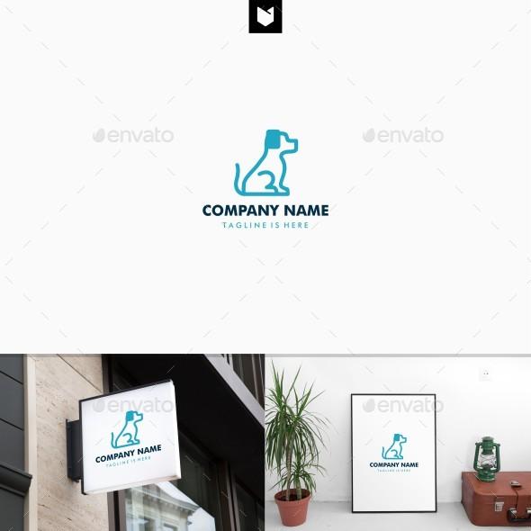 Dog Outline Logo Template - Animals Logo Templates
