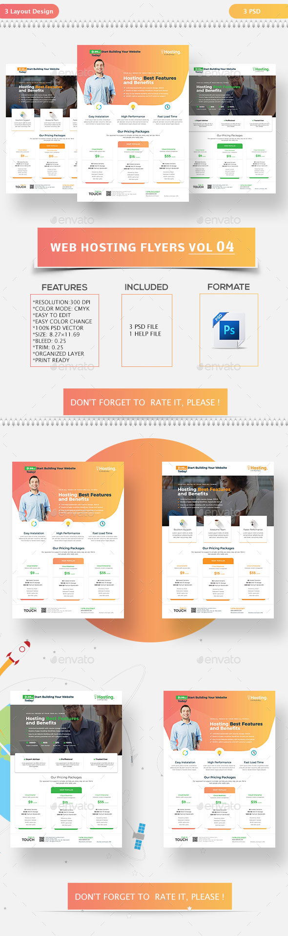 Web Hosting Flyers Vol-04 - Flyers Print Templates