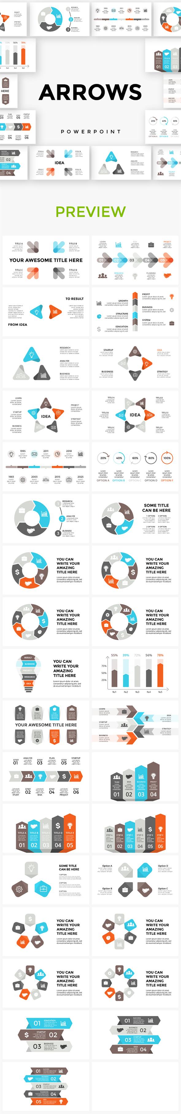 Arrows Powerpoint Infographics - Presentation Templates
