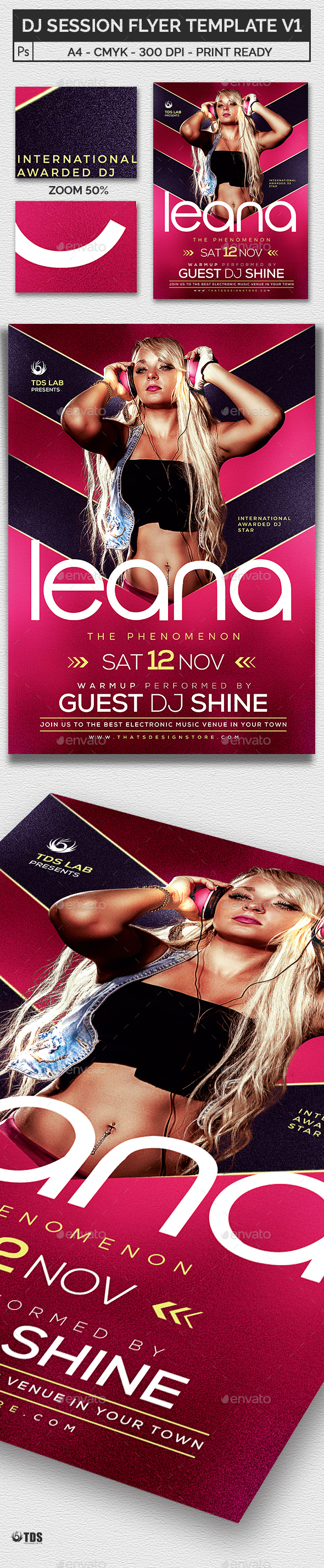 DJ Session Flyer Template V1 - Clubs & Parties Events