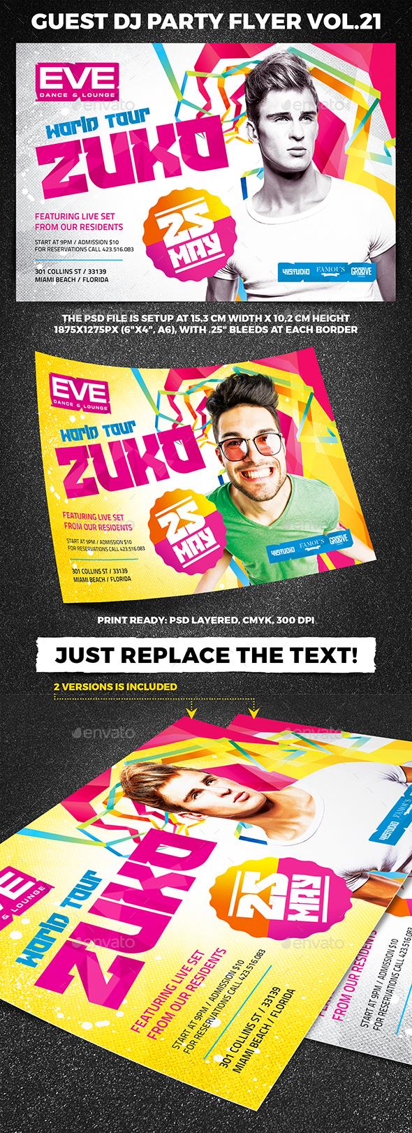 Guest DJ Party Flyer vol.21 - Clubs & Parties Events