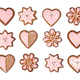 Gingerbread cookies collection isolated - PhotoDune Item for Sale