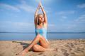 Yoga on the beach - PhotoDune Item for Sale