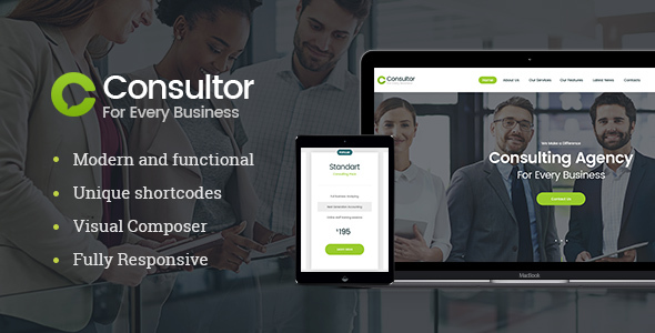 Consultor | Business Consulting WordPress Theme - Business Corporate