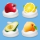 Fruits and Yogurt Set - GraphicRiver Item for Sale
