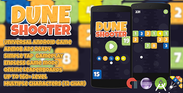 Dune Shooter + Admob (Android Studio + Eclipse) Easy Reskin - CodeCanyon Item for Sale