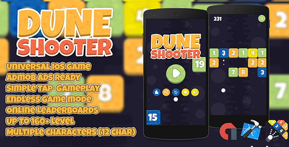 Dune Shooter IOS XCODE Admob + Multiple Characters - CodeCanyon Item for Sale