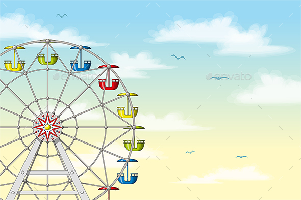 Ferris Wheel in Front of Sky - Sports/Activity Conceptual